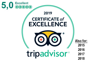 Cliffhanger Cottages is Extremely Highly Rated on TripAdvisor, with Certificate of Excellence for the past 5+ years